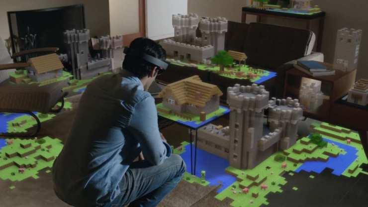 Minecraft avec Hololens à l'E3 [RéalitéAugmentée]
